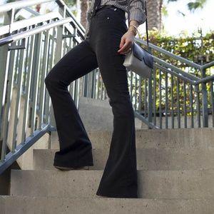 Zara High-waisted Black flare leg jeans